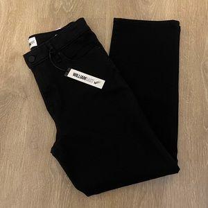 WilliamRast Black High Rise Straight Crop Jeans